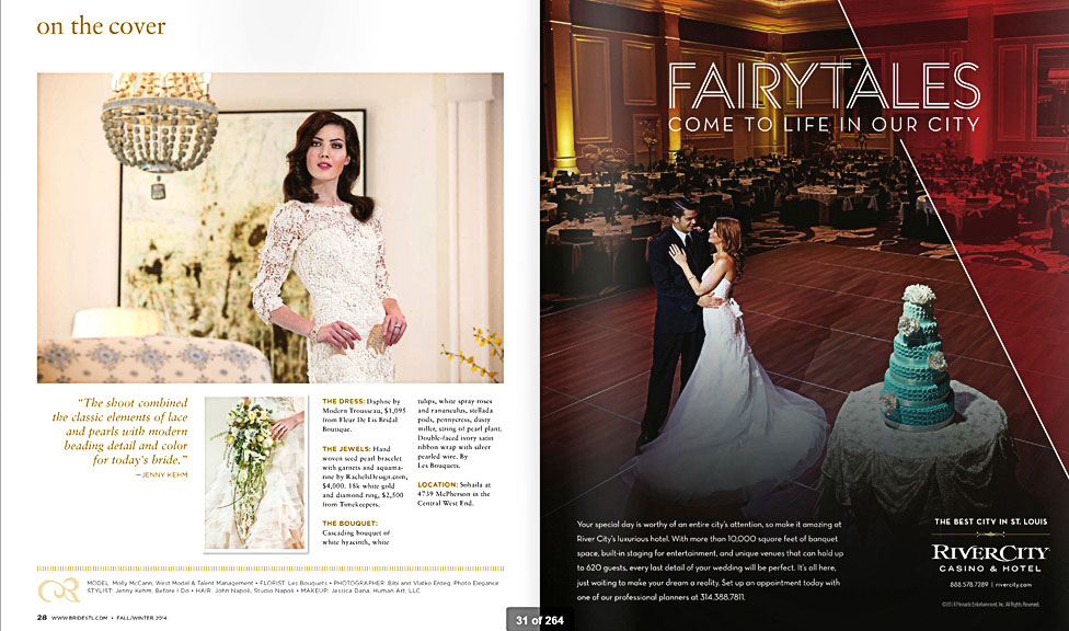 Designed to Dazzle is St. Louis Bride Magazine Editorial photographed by Photo Elegance